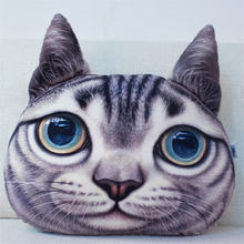 Four Types Cat 3D Printed Cat face Car  Headrest Pillow 2017 New Arrival Seat Cushion Supplies Neck Auto Safety Pillow