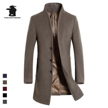 new men's wool coat autumn and winter designer fashion high quality plus size wool business parka coats for men pull homme D33F1