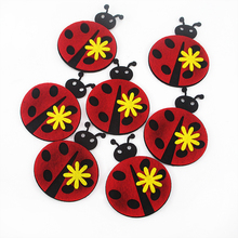 David accessories Strawberry Christmas ladybug  nonwovens embroidery patch 20pieces,DIY handmade materials,20Yc2683