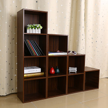Multi-function Wooden Bookcase Sundries Shelf Standing Book Shelves Storage Wood Cabinets Display Rack