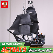 2017 New LEPIN 16006 Pirates of the Caribbean The Black Pearl Building Blocks Educational Funny Set 4184 Toy For Children