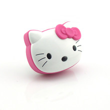 Wholesale Mini Digital Portable Hello Kitty Wireless Phone Computer Bluetooth Speaker with FM Radio Line In TF Card USB Slot(China)