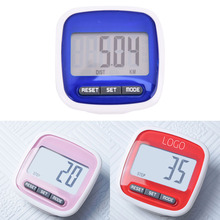 Blue/Red/Pink LCD Digital Clip Pedometer Step Walking Distance Calorie Counter Calculation 1Set