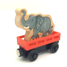 W50 free shipping RARE Transport elephant carriage truck ORIGINAL wooden Thomas and friend Children track game toys Child toy