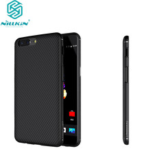 oneplus 5 Nillkin Synthetic Fiber Cell Phone Case for 1 plus 5 A5000 one plus 5 Hard Carbon Fiber PP Plastic Back Cover Case(China)