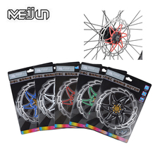 Meijun MTB Steel 160mm Brake Rotor Moutain Bike Folding Bicycle 6inch Red Disc Rotor with T25 Screws