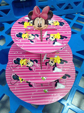 Minnie mouse cupcake stand cupcake holder girl kids birthday party supplies Stand For Cake,For Birthday / Baby Shower Party P152