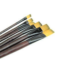 6pcs/set Different Shape Nylon Hair Paint Brush Set Wooden Handle Gouache Watercolor Oil Painting Brush Set Acrylics Art D0618