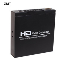 SCART HDMI to HDMI Converter Full HD 1080P Digital High Definition Video Konverter EU/UK/US Power Plug Adapter For HDTV HD