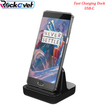 Rockever Fast Charger Dock USB TYPE-C Desktop Stand Station Cradle For ONEPLUS 3 3T 5/Galaxy s8 plus/xiaomi/HUAWEI QC3.0 Dash(China)