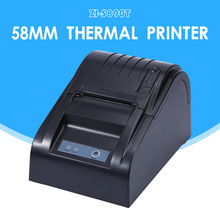 ZJ-5890T 58mm Thermal Printer 58mm Thermal Receipt Printer 58mm USB POS Printer for Restaurant and Supermarket
