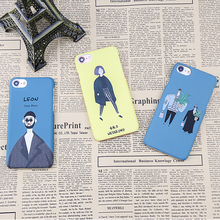 Buy Original Hard Plastic Matte Case iPhone 7 6 6s Plus Case Movie Leon Mathilda Pattern Coque iPhone 8 phone Coque case for $2.15 in AliExpress store