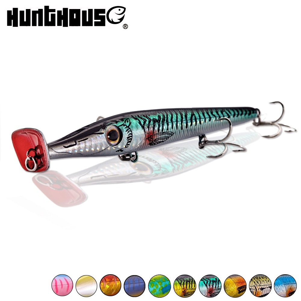 hunt house needle zargana 150 popper pencil lures long cast pencil baits floating fishing topwater lure top water lure ice fish