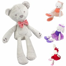 42cm Cute Rabbit Bear Doll Baby Plush Toy Soft Ballet Bunny Rabbit Doll Kids Comfort Appease Doll Best Gift For Kids