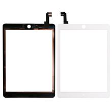 Tested well Replacement For iPad Air 2 2nd Gen Generation A1567 A1566 White Touch Screen Digitizer Glass Lens(China)