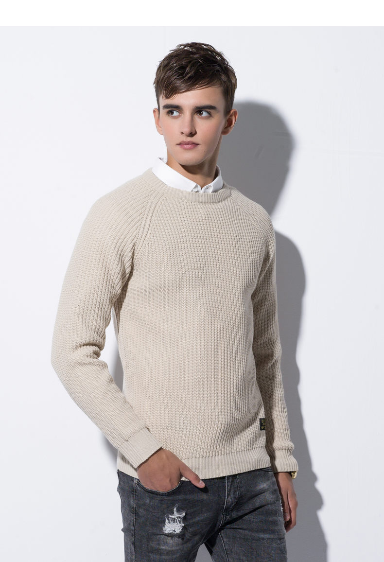 3Color Winter Men Pullover Sweaters Warm Thick Sweater Men Autumn Knited Male Pullover Jumper Navy Red Khaki Brand Muls M-4XL-07