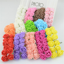 144 Pcs/lot Dia 2 cm Artificial Multi Color Foam Roses For Home And Wedding Decoration Flower Heads Kissing Balls For Weddings