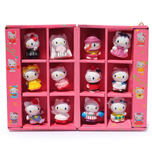12pcs/set Hello Kitty pvc Figure toy KT 30 Years Limited Gift toys Cute And lovely Box Packaged Free shipping(China)