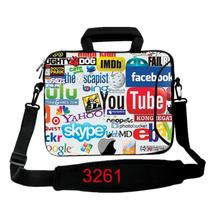 "Internet Logo Laptop Shoulder Bag 13.3 15.6 Neoprene Sleeve Strap Bags Cases Cover Pouch For 10"" 12'' 14'' Notebook Computer X1"