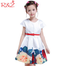 Summer Girls Dress 2017 Embroidery Short Sleeve Lovely Princess Party Wedding Dress Children Big Girls Kids Clothing(China)
