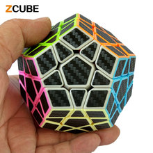 Zcube 2017 New Fluorescence Magic Cube Carbon Fiber Sticker Smooth Dodecahedron Puzzle Cube Speed Cubo Educational Toys Gift -48
