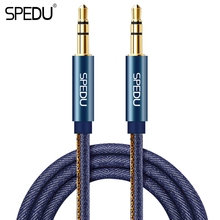 Aux Cable, SPEDU 3.5mm jack Braided Denim Premium Auxiliary Audio Cable For Car Headphones Speaker iphone iPods 3.5 mm Aux(China)