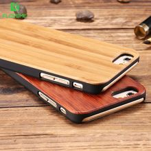 FLOVEME Natural Wood Case for iPhone 5 5S SE 6 6S 7 Plus Case Real Wood Hard Back Phone Cover Durable Capa for Samsung Galaxy S7