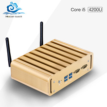 Hot mini desktop computer Core I5 4200U fanless thin client windows10 barebone pc support performance 3D graphics USB3.0 Wifi