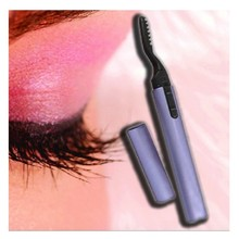 Electric Heated Eyelash Curler Makeup Tools Eye Curling Eyelashes Beauty Care Battery Operated