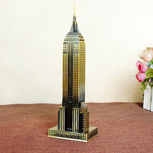 Hot Selling The World Famous Landmark Metal Model Of The Empire State Building Model Alloy steel(China)