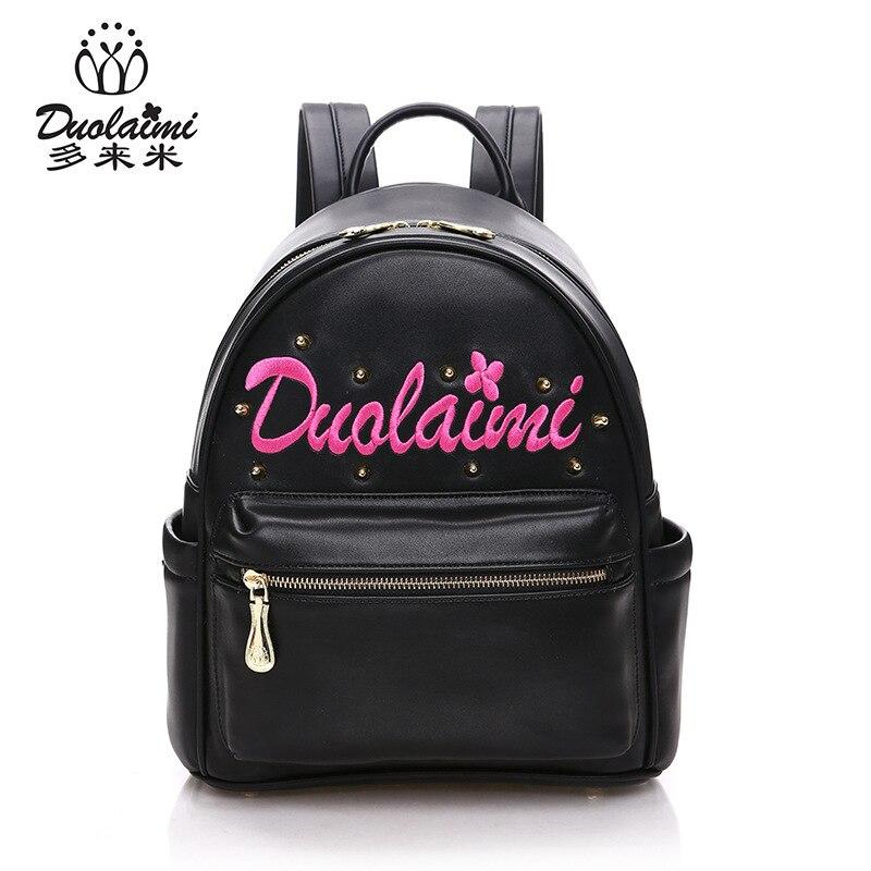 DUOLAIMI Fashion Women Backpack High Quality YouthPU  Leather Backpacks Teenage Girls Female School Shoulder Bag Bagpack Mochila<br>