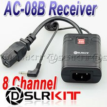 DSLRKIT 8 channel Wireless Studio Flash Trigger Receiver AC-08B RX