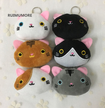BULK 500PCS Wholesale 6CM Mini Super Kawaii 6Colors MIX Cats Plush Stuffed Toy Doll , mini Key hook pendant Plush toy Doll