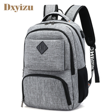 2018 Preppy Style USB Charge Backpack Men School Bags Teenager boys Laptop Bag Travel Large Capacity College Student Backpacks(China)