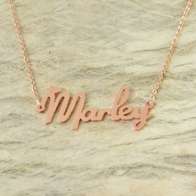 Personalized Choker Necklace Name Jewelry with heart Nameplate Pandent Name Necklace(China)