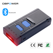 DBPOWER Pocket Wireless Red Light CCD Bluetooth Barcode Scanner Laser Portable Reader Bar Code Scanner for IOS Android Windows