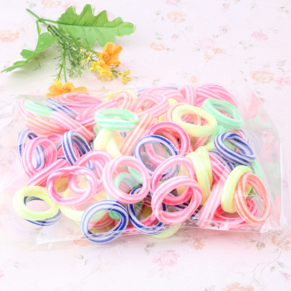 New Arrival 1 Pack=80 Pcs Women Colorful Elastic Hair Band Pets Headband Girls Hair Accessories Children Candy Lovely Scrunchy(China (Mainland))