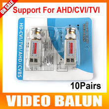 10Pairs Enhanced Twisted BNC CCTV Passive Transceivers UTP Video Balun BNC Cat5 Support Distance 200M HDCVI/AHD/HDTVI Camera