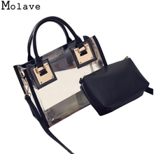 Molave Handbags Fashion Women Transparent Shoulder Bags tote bag Jelly Candy Beach Messeng Bag female bramd handbags 17Jan1(China)