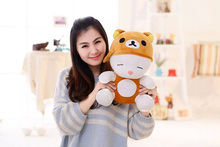 New arrival 1Pc 35-55Cm Cute plush toy Mashimaro Totoro Rilakkuma 2 Items stuffed doll Girls Kids Birthday gift