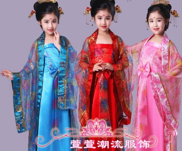 2017 hot Chinese Style Traditional Cheongsam Costume Dress Girls Tang Suit Qipao Dress Girls Princess Party Performance Dress<br><br>Aliexpress