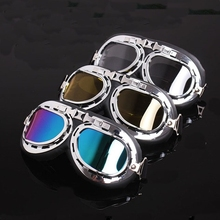 Vintage Flying Steampunk Skiing Snowboard Snowmobile Goggles UV400 Protection Anti-Fog Windproof Dustproof Glasses Eyewear