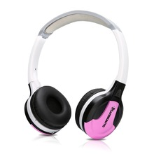 Pumpkin Pink Infrared Stereo Wireless Headphones Dual channel IR Cordless Earphone for Car roof DVD or Headrest DVD player