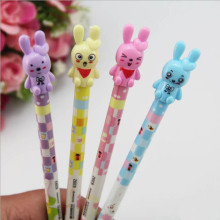 10pc/lot s Fashion Cute Rabbit Automatic pen mechanical pencil Activities of pen for school students writing 0.5mm pencil(China)