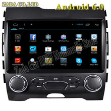 1024*600 9inch Quad Core Android 6.0 Car DVD player for Ford Edge With Radio Bluetooth 3G Wifi Mirror Link Free Maps GPS