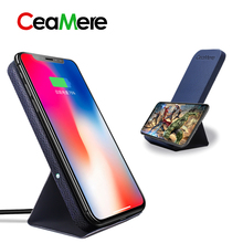 CeaMere SY01 Standing Qi Fast Wireless Charger 9V/1.67A for iPhone 8/X/8 Plus Samsung Galaxy S8/S7 Wireless fast charging dock(China)