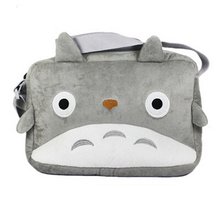 Women Handbags Cartoon Movie TV My Neighbor Totoro Plush Soft Doll Grey Messager Shoulder Bag Satchel Cosplay Bag Gift 667852(China)