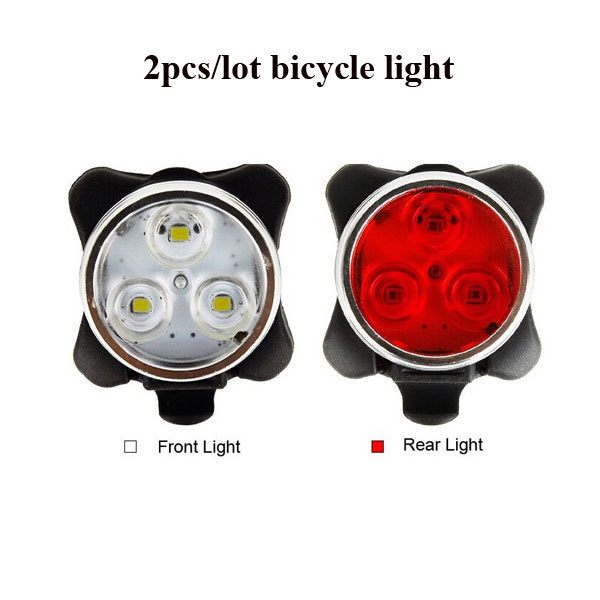 2pcs/lot Bike Light Front Rear Light USB Rechargeable Led Cycling Lamp Safety Warning Portable Led Flash Lights for Bicycle<br><br>Aliexpress