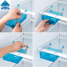 Wishome 2PC/Lot Creative Household Products Twitch Type Sliders Plastic Fridge Drawer Sundry Storage Rack ZH-103154(China)