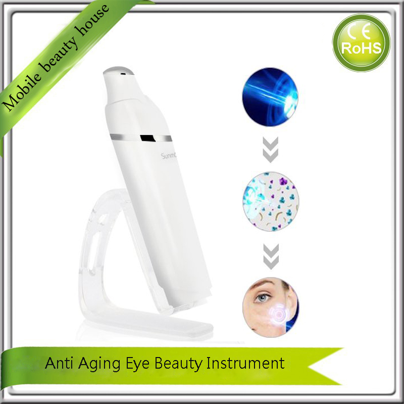 Vibrating Ionic Nutrient Infusion Infrared Light Heating Therapy Eye Wrinkle Pouch Puffiness Dark Circle Removal Beauty Massager<br><br>Aliexpress